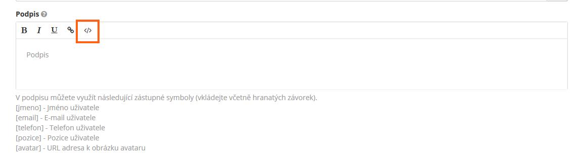 editace html